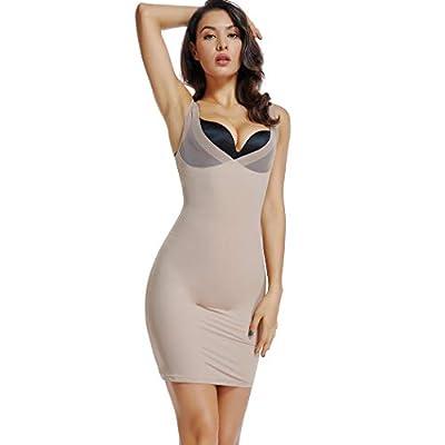 Full Slips for Under Dresses Women Full Body Shaper Slip V Neck Adjustable Spaghetti Straps Nightwear
