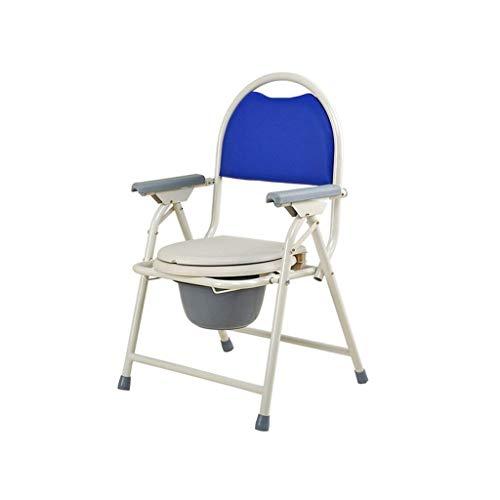 JALAL Klappbarer Kommodenstuhl Mobiler Toilettensitz Stuhl, älterer Toilettensitz, freistehende Toilette, beweglicher schwangerer Frauenbehinderter Toilettensitz Stuhl nach Hause