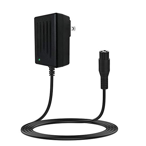 LIANSUM 24V Scooter Battery Charger Cord for Razor E100 E200 E200S E175 E300 E300S E125 E150 E500 PR200 E225S E325S MX350 MX400 Sports Mod Dirt Quad, Crazy Cart, eSpark 3-Prong Adapter Power Supply