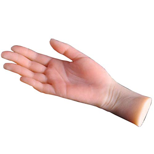 Modelo de anatomía, Silicona femenino maniquí vida tamaño mano como boceto uñas arte práctico joyería reloj pantalla mostrar accesorios lecturas modelo pies ilustraciones hermosas manos, izquierda par