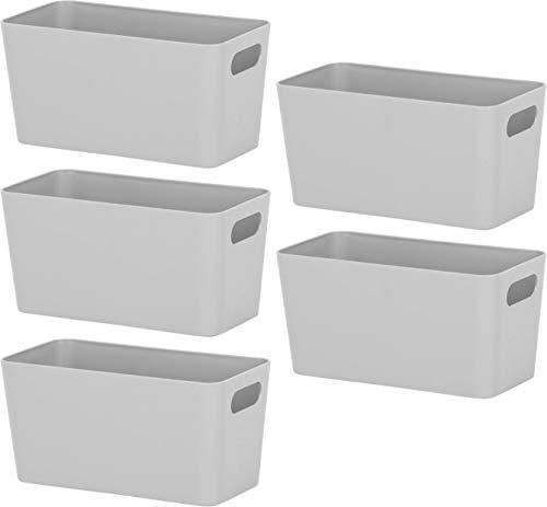Wham Bam 6.01 Aufbewahrungskörbe, Kunststoff, für Büro, Zuhause und Küche, 20,0 x 10,0 x 10,0 cm, 5 Körbe