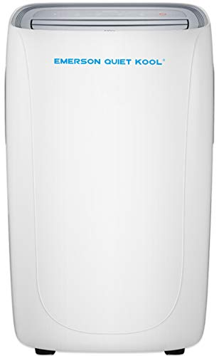 Emerson Quiet Kool Emerson SMART Portable Air Conditioner with Remote Wi-Fi and Voice Control for Rooms up to 400-Sq. Ft, 12000 BTU WITH WIFI, White