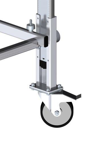 HAILO 9942-101 Fahrrollen Set für Aluminium Fahrgerüst 4 Stück