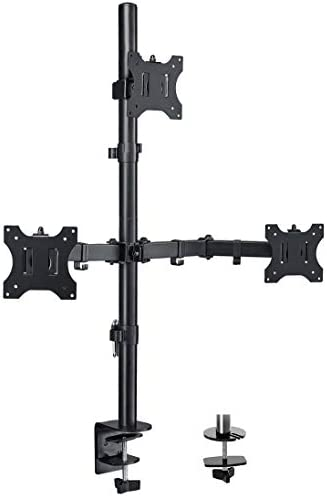 FORGING MOUNT Triple Monitor Stand Fully Adjustable Monitor Desk Mount Full Motion with C Clamp product image