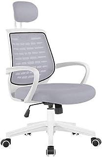 RJJBYY - Silla giratoria de oficina, hogar, oficina, escritorio, silla de escritorio, silla elevable, reposacabezas inclinable, tensión, soporte lumbar, peso 150 kg