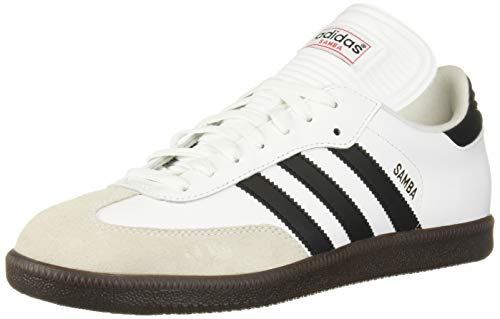 adidas Men's Samba Classic Running Shoe, white/black/white, 10 M US