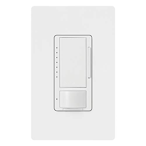 Lutron Maestro C.L Dimmer and Motion Sensor with Wallplate, Single-Pole and Multi-Location, MSCL-OP153M-WH, White
