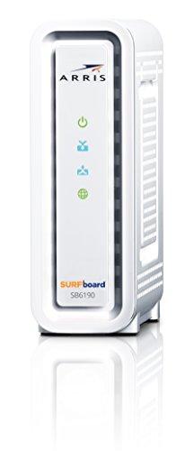 ARRIS SURFboard SBG6580-RB 8x4 DOCSIS 3.0 Cable Modem / N300+N300 Dual Band Wi-Fi Router - (ARRIS Renewed) - Black
