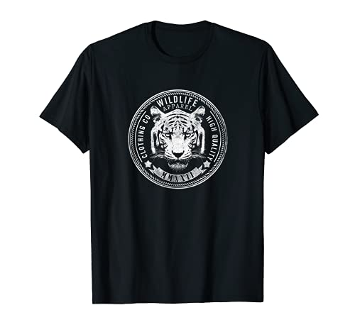 Vintage Tiger Face, Leopard, Wildlife Cheetah Design T-Shirt