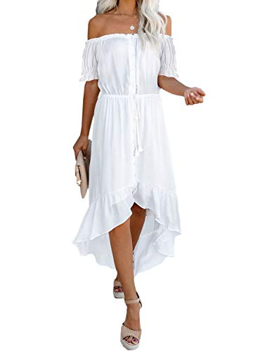 Off the Shoulder Translucent Fit and Flare Wedding Dress