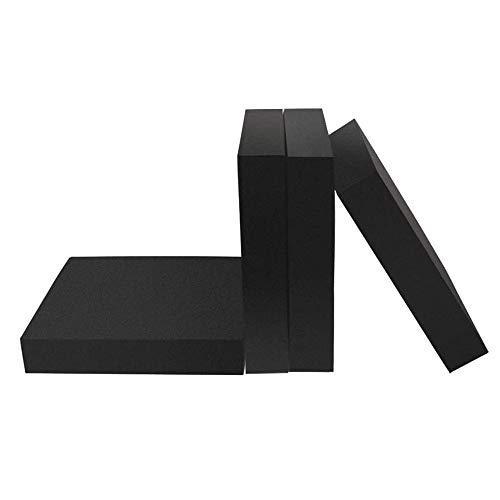 JHGHK Gummiplatte Gummiblock 4 Stück Kann rutschfest und Stoßdämpfend Sein 50mm x 50mm,50mm x 50mm x 50mm