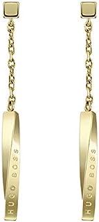 HUGO BOSS WOMEN'S IONIC GOLD PLATED STEEL EARRINGS -1580009