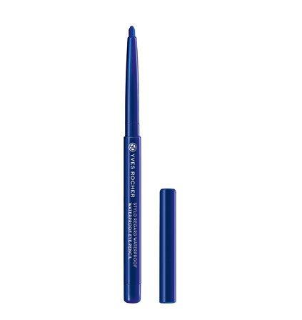 Yves Rocher COULEURS NATURE wasserfester Augenkonturen-Stift Bleu flash, Eyeliner Drehstift,...