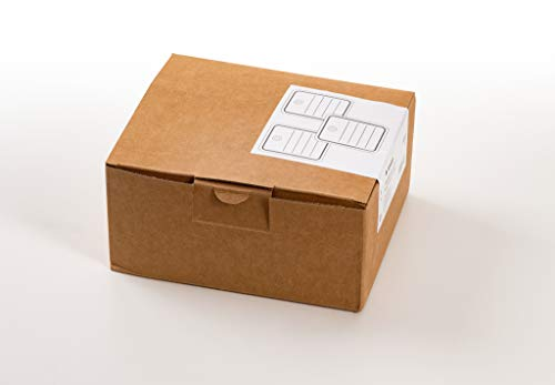 HERMA 6820 Warenanhänger mit Öse (40 x 50 mm, klein, Fadenlänge ca. 8 cm) Anhängeschilder aus Karton zum Beschriften, 1.000 Preisetiketten, weiß