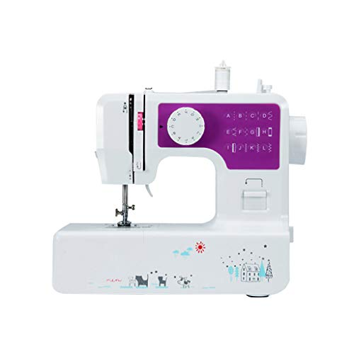 Gooldu Sewing Machine Electric Sewing Machine with Sewing Lamp Free Arm Best Sewing Machines for Beginners (Purple)