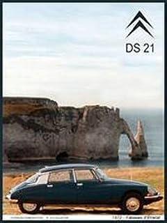 FRANZOSICH VINTAGE METALL BLECHSCHILD 40x30cm CITROEN DS 21 ETRETAT AUTO 1972