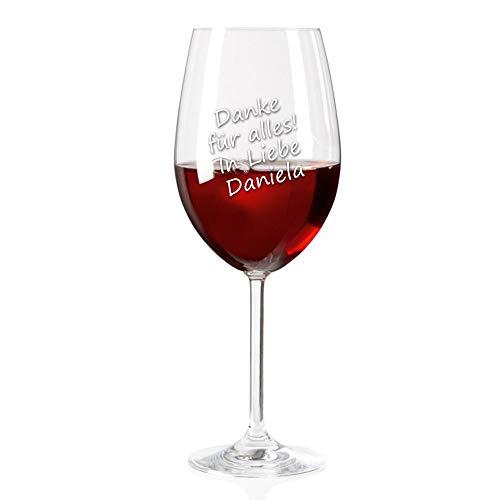 Leonardo Rotweinglas inklusive kostenloser Gravur | Ihr Wunsch-Text auf einem Weinglas | Geburtstagsgeschenk | Muttertagsgeschenk