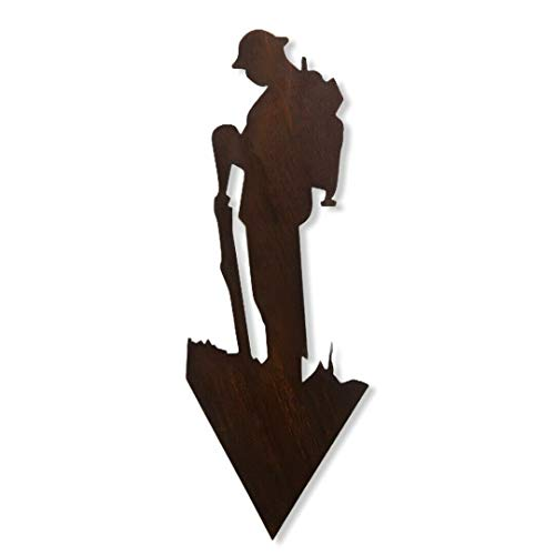 Photo of LARGE Rusty METAL, Lest We Forget army Soldier, soldier SILHOUETTE, GARDEN Decoration, garden Statue, Garden Feature, remembrance day gift,