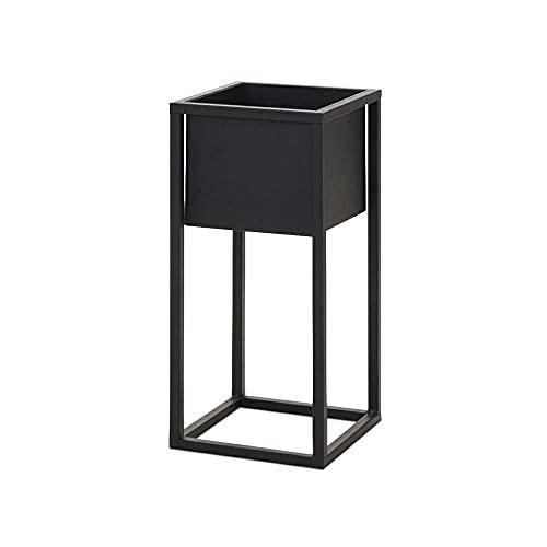 Home&Styling Vaso da Fiori con Supporto in Metallo Nero Fioriera Contenitore