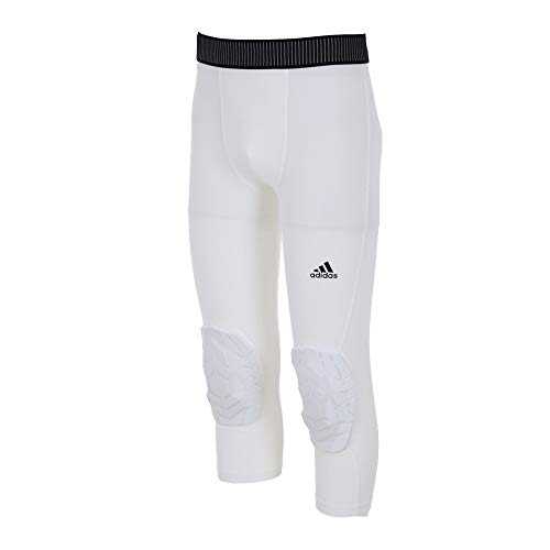 adidas Herren 3/4 Padded Tight, White, 2XL