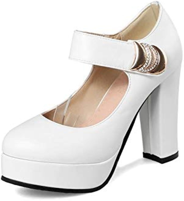 MENGLTX High Heels Sandalen Plus Big Größe Frühling Herbst Schuhe Frau High Heels (10Cm) Mode Leopard Pumps Plattform Party Hochzeit