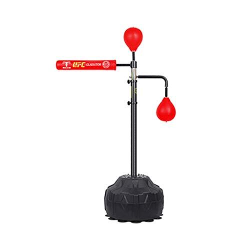 Boxreaktionsziel Boxsack Rotierende Sporttrainingsausrüstung Home Dodge Training Sanda Speed Ball Sandsäcke & Punchingbälle (Color : Red1, Size : 120~190cm)