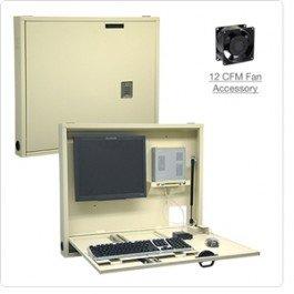 Omnimed 291470-LG Thin-Client Informatics - Escritorio de pared, estación de trabajo, soporte para ordenador, color gris claro