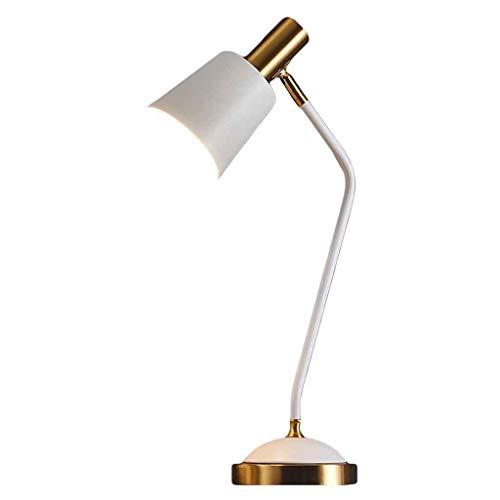 CHENJIA Elegante lámpara de mesa de escritorio de ahorro de energía Iluminación LED Luz de lectura Lámpara regulable for el cuidado de los ojos 3 niveles de brillo, ideal for leer Estudiar Blanco de t