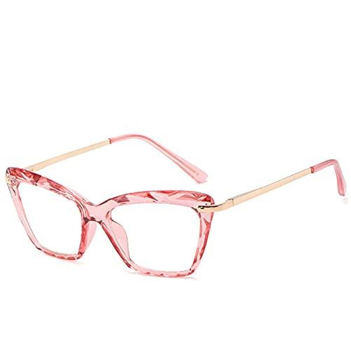 ShZyywrl Gafas De Sol De Moda Unisex Vintage Transparente Ojo De Gato Gafas De Cristal Marco Mujeres Retro Negro Marco De Metal Gafas Cuadradas Uv400 4