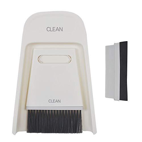 UCEC 2in1 Mini Kehrschaufel Set Kehrset, Handkehrset Ersatz für weiches Fell und Borsten, Nass und trocken Kehr-Set, für die Reinigung von Tisch