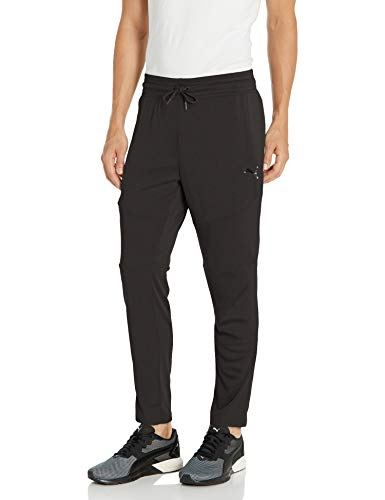 PUMA Pantalones de Entrenamiento de Punto cónico para Hombre, Negro (PUMA Black), Small