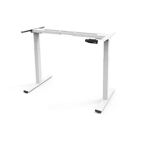 FLEXISPOT EB2W White Height Adjustable Electric Standing Desk,...
