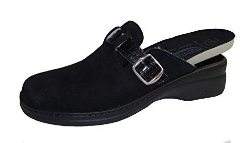 Algemare Damen Clogs 5972-004 schwarz, Gr. 36-42, Wechselfußbett, Damen Größen:37, Farben:schwarz