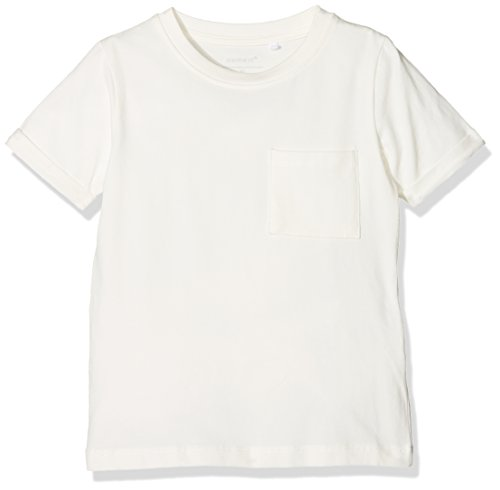 Name It Nkmvester SS Top Noos T-Shirt, Blanc (Snow White), 104 Bébé garçon