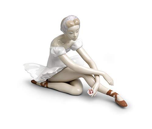 LLADRÓ Figura Mujer Ballet De La Rosa. Figura Bailarina de Porcelana.