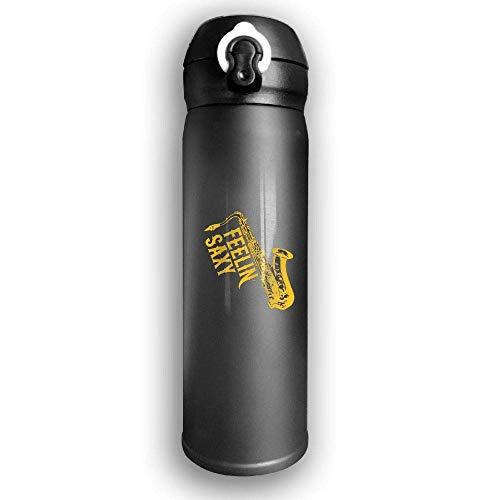 Bestqe Vakuumisolierte Trinkflasche,Wasserflasche,Thermosflasche, Feelin Saxy Saxophone Stainless Steel Mug 17 OZ Double...