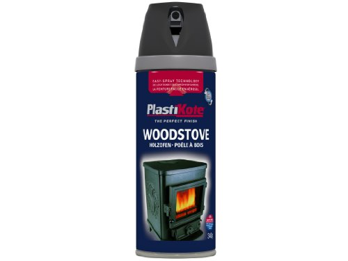 Plasti-kote 26030 400ml Wood Stove Twist and Spray