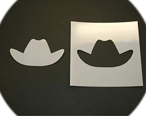 16' inch Cowboy Hat Style Design Reusable Mylar Cutout Stencil Sign Art Craft DIY Supplies by CharmingSS LZ-16in-0434