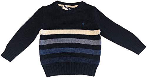 Polo Ralph Lauren Pullover für Jungen, gestreift, Marineblau/Weiß - - X-Large