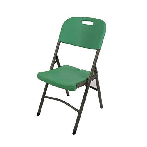 LH-Sonnenliege Klappstuhl Stapelbarer Schreibtischstuhl Haushalt Esszimmerstuhl Lounge Chair Training Computer Konferenzstuhl (Farbe : Grün)