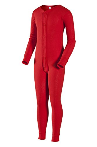 Indera Youth Union Suit, Red, X-Large