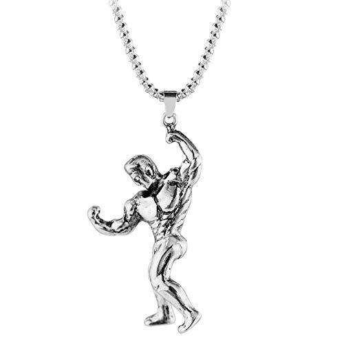 Anhänger Halskette Schmuck Herren Anhänger Männliche Retro-Legierung Silber Halskette Männlicher Schmuck Freund Geschenk Geschenk Mode Klassiker 2