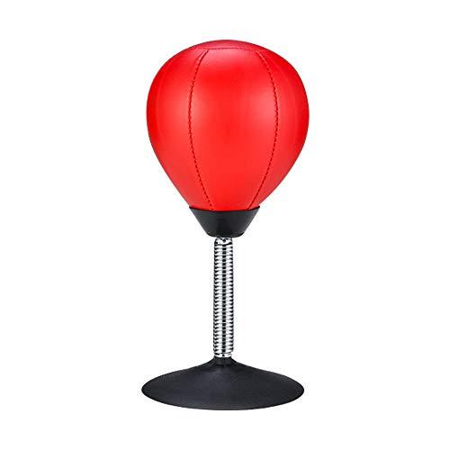 Bolsa de perforación de escritorio de alivio del estrés, grandes bolas de boxeo de perforaciones, juguete mesa pie succión gran diámetro, cuero de PU, fácil de instalar, para niños adultos ofi