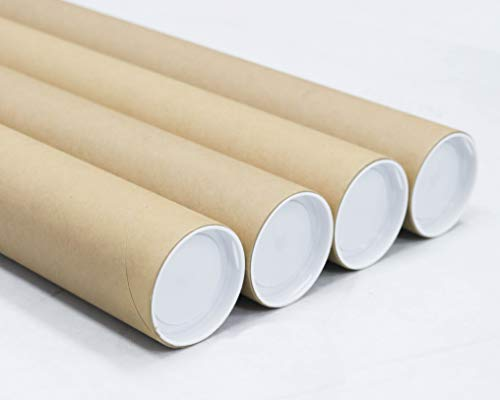 3 inch x 36 inch, Mailing Tubes with Caps (4 Pack)   MagicWater Supply