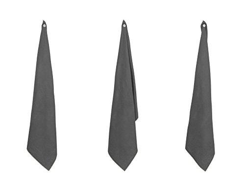 BLANC CERISE Torchon en 100% Lin lavé, uni avec boudon de Couleur,?illet en métal 58 * 80