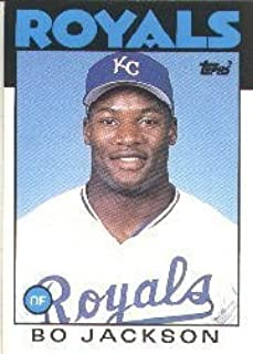 1986 Topps Traded Bo Jackson Rookie Baseball Card #50T - Shipped In Protective Display Case!