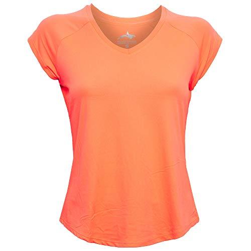 Killer Whale Camiseta Deportiva Todo técnico para Mujer (Naranja, XL)