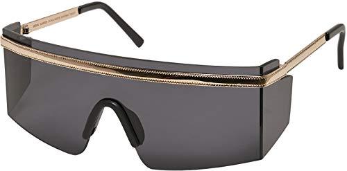 Urban Classics Sunglasses Sardinia Gafas, Negro/Dorado, Talla única Unisex Adulto
