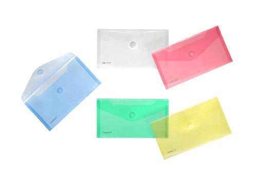 FolderSys - Carpetas de plástico transparentes (colores