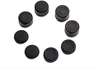 SKEIDO 8pcs/set black Enhanced Analog ThumbStick Joystick Grips Heighten button Cover Caps For Sony Play Station 4 PS4 Gam...